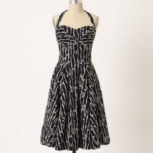 Anthropologie Girls from Savory Traced Twirl Dress
